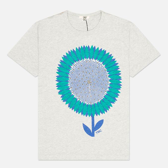 Мужская футболка YMC Flower Print Grey