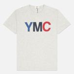 YMC Logo Print Crew Neck Men's T-shirt Grey photo- 0