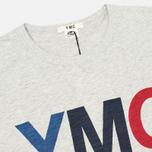 YMC Logo Print Crew Neck Men's T-shirt Grey photo- 1