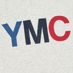 YMC Logo Print Crew Neck Men's T-shirt Grey photo- 2