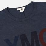 Мужская футболка YMC Logo Print Crew Neck Navy фото- 1