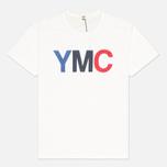 Мужская футболка YMC Logo Print Crew Neck White фото- 0