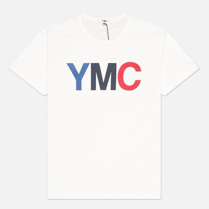 Мужская футболка YMC Logo Print Crew Neck White
