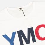 Мужская футболка YMC Logo Print Crew Neck White фото- 1