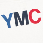 Мужская футболка YMC Logo Print Crew Neck White фото- 2