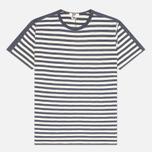 Мужская футболка YMC Panel Stripe Navy фото- 0