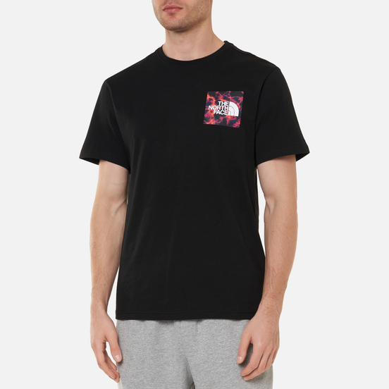 Мужская футболка The North Face Fine SS TNF Black/TNF Black Marble Camo Print
