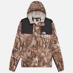 Мужская куртка ветровка The North Face 1985 Seasonal Mountain Kelp Tan Forest Floor Print