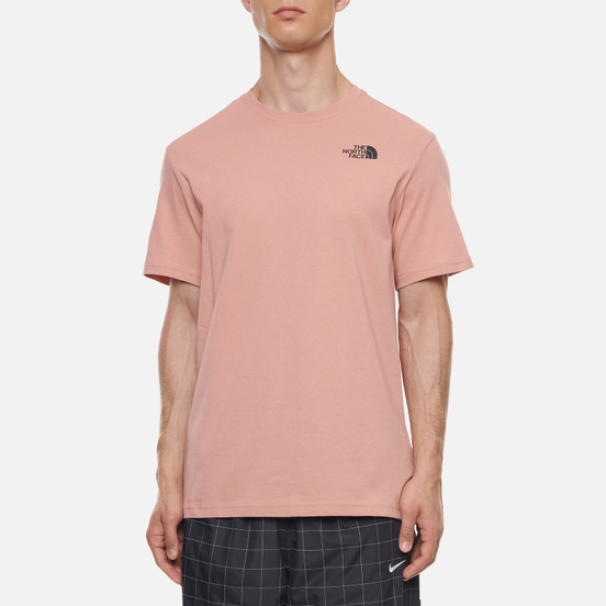 Мужская футболка The North Face SS Red Box Pink Clay/TNF Black