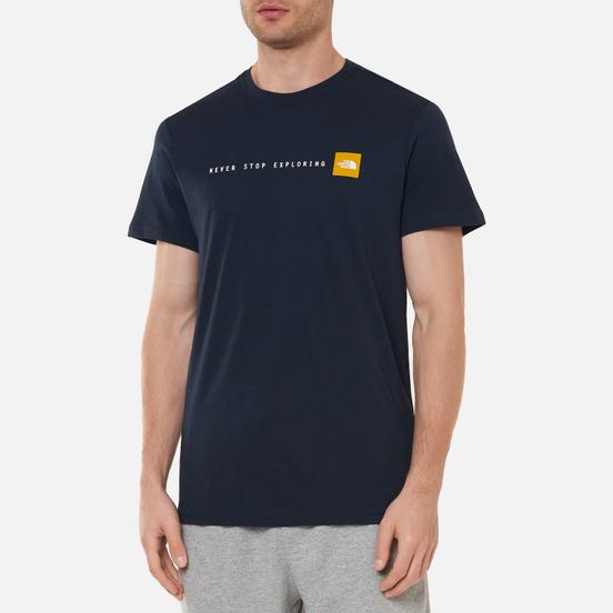 Мужская футболка The North Face SS Never Stop Exploring Urban Navy/Arrowwood Yellow