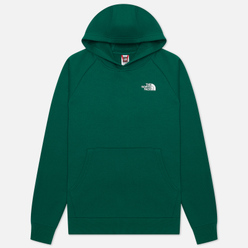 Мужская толстовка The North Face Raglan Red Box Hoodie Evergreen