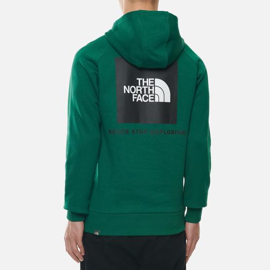 Мужская толстовка The North Face Raglan Red Box Hoodie Evergreen