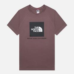 Мужская футболка The North Face SS Rag Red Box Graphite Purple