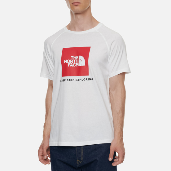 Мужская футболка The North Face SS Rag Red Box TNF White/TNF Red