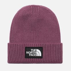 Шапка The North Face Logo Box Cuffed Pikes Purple