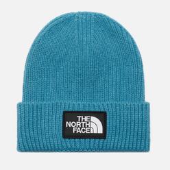 Шапка The North Face Logo Box Cuffed Storm Blue
