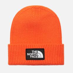 Шапка The North Face Logo Box Cuffed Red Orange
