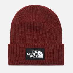 Шапка The North Face Logo Box Cuffed Brick House Red