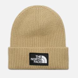 Шапка The North Face Logo Box Cuffed Flax