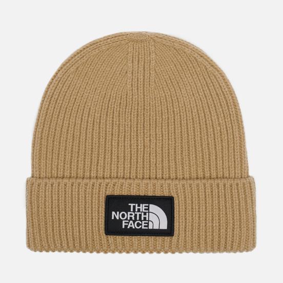 Шапка The North Face Logo Box Cuffed Hawthorne Khaki
