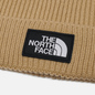 Шапка The North Face Logo Box Cuffed Hawthorne Khaki фото - 1