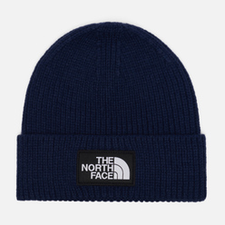 Шапка The North Face Logo Box Cuffed TNF Navy