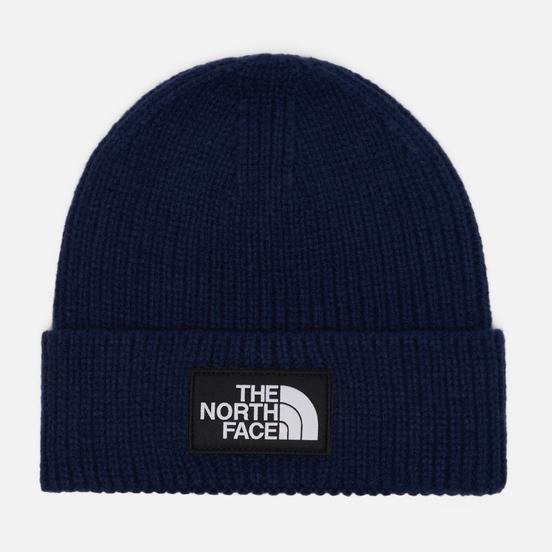 Шапка The North Face Logo Box Cuffed TNF Navy