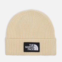Шапка The North Face Logo Box Cuffed Bleached Sand