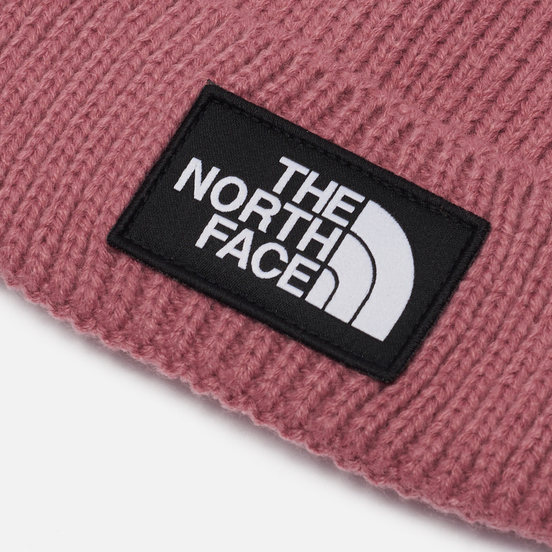 Шапка The North Face Logo Box Cuffed Mesa Rose