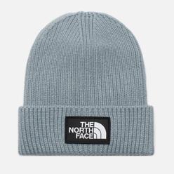Шапка The North Face Logo Box Cuffed Tradewinds Grey