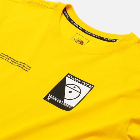 Мужской лонгслив The North Face LS Steep Tech Print Lightning Yellow