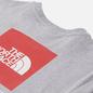 Женская футболка The North Face Boyfriend Redbox TNF Light Grey Heather/TNF Red фото - 2