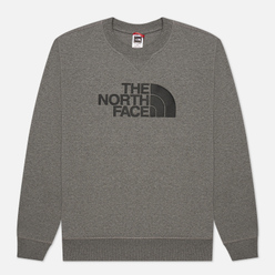 Мужская толстовка The North Face Drew Peak Crew TNF Medium Grey Heather/TNF Black