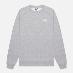 Мужская толстовка The North Face Raglan Redbox Crew TNF Light Grey Heather