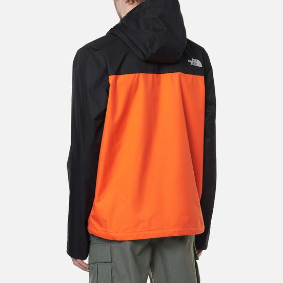 Мужская куртка ветровка The North Face Millerton TNF Black/Flame