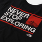 Мужская футболка The North Face Explore TNF Black/Fiery Red/TNF White фото - 2