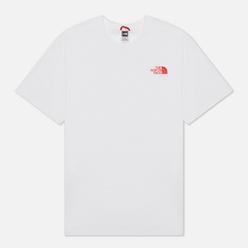 Мужская футболка The North Face Explore TNF White/TNF Black/Fiery Red