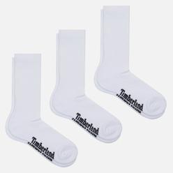 Комплект носков Timberland 3-Pack Stratham Core Sport Crew White