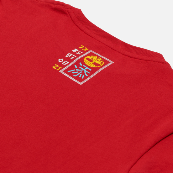 Мужская футболка Timberland Chinese New Year Stack Logo Barbados Cherry