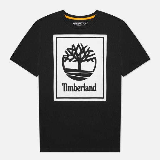 Мужская футболка Timberland Stack Logo Black/White