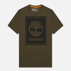Мужская футболка Timberland Stack Logo Grape Leaf/Black