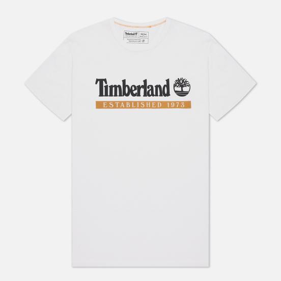 Мужская футболка Timberland Established 1973 White/Wheat Boot
