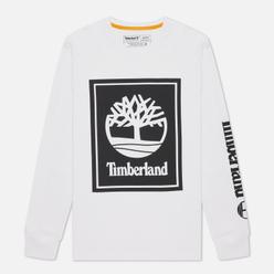 Мужской лонгслив Timberland Stack Logo White/Black