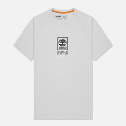 Мужская футболка Timberland SS Heavyweight Stack Logo White