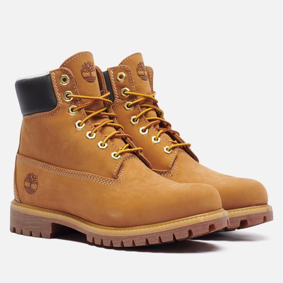 Мужские ботинки Timberland 6 Inch Premium Waterproof Warm Lined Wheat Nubuck