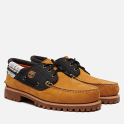 Мужские ботинки Timberland Authentics 3-Eye Fabric Leather Wheat Nubuck