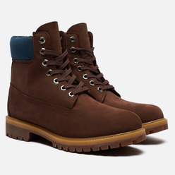 Мужские ботинки Timberland 6 Inch Premium Waterproof Dark Brown Nubuck