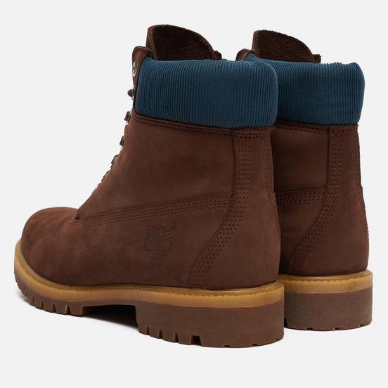 Мужские ботинки Timberland 6 Inch Premium Waterproof Dark Brown Nubuck