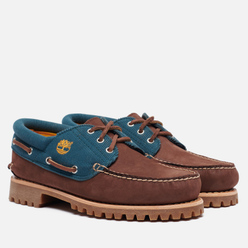 Мужские ботинки Timberland Authentics 3-Eye Fabric Leather Dark Brown Nubuck