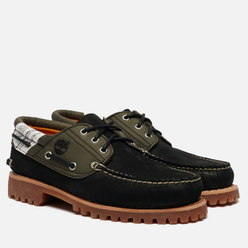 Мужские ботинки Timberland Authentics 3-Eye Fabric Leather Black Nubuck